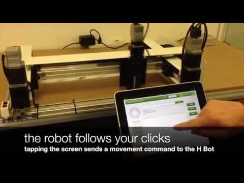 H-Bot Pick And Place Gantry With IPad Control Demonstration