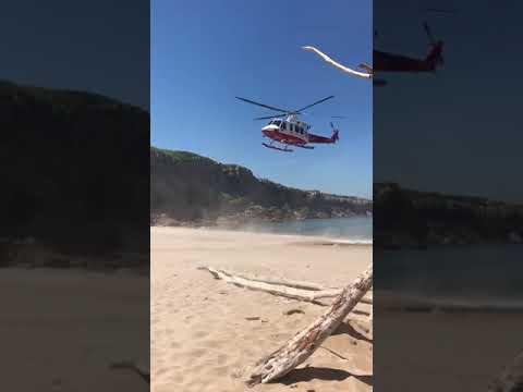 Evacuado en helicóptero un hombre que cayó desplomado en Los Caballos