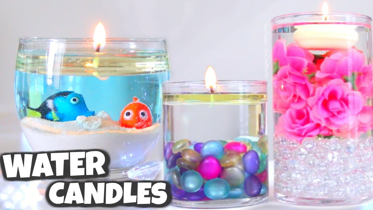 Diy Candles Diy Water Candle Vase Centerpiece Candles How To Socraftastic
