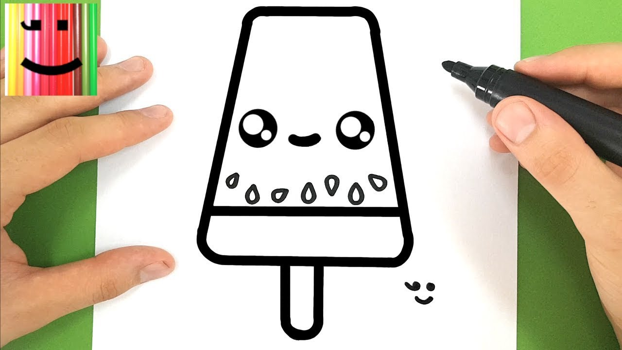 Comment Dessiner Une Glace Pasteque Kawaii Tuto Dessin Youtube