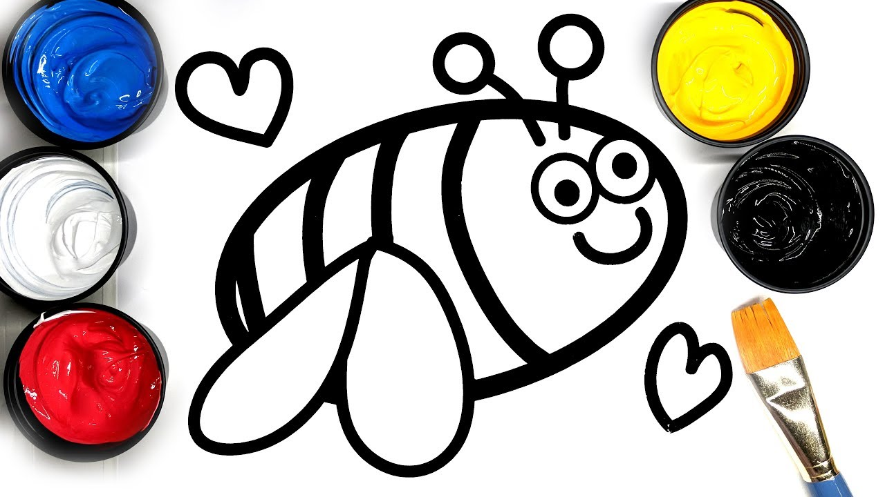 Painting Cute Bumble Bee Painting Pages For Baby Coloring Bee Painting Pages