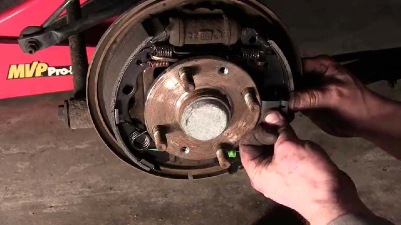 How to replace rear drum brakes mazda protege
