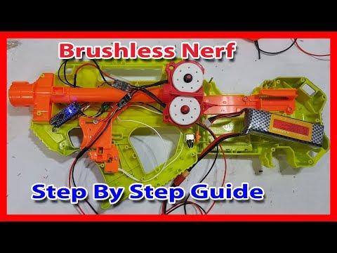 ⚡️ Brushless Nerf Motor ESC Step By Step Guide. Stryfe, RavenFire, Regulator Mod
