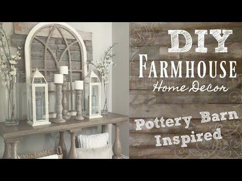 DIY industrial farmhouse style home decor | pottery barn inspired | BeeisforBeeauty