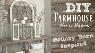 DIY industrial farmhouse style home decor | pottery barn inspired | BeeisforBeeauty