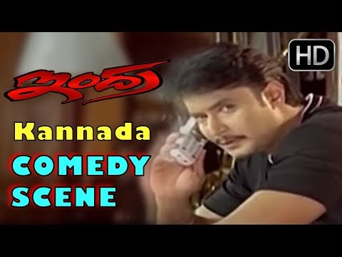 Darshan Double Acting Comedy | Kannada Comedy Scenes | Indra Kannada Movie | Bullet Prakash