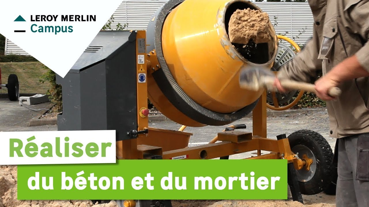 Comment r aliser du b ton et du mortier leroy merlin for Dosage mortier pour chape