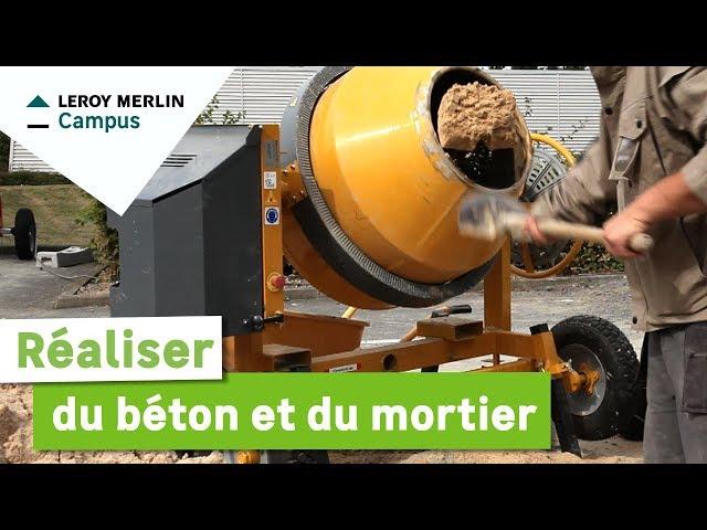 Comment Réaliser Du Béton Et Du Mortier Leroy Merlin Youtube