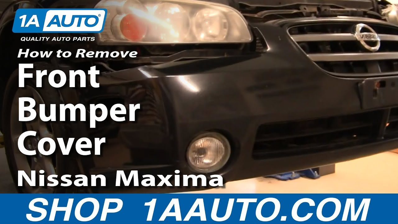How To Remove Front Bumper Cover 00-03 Nissan Maxima