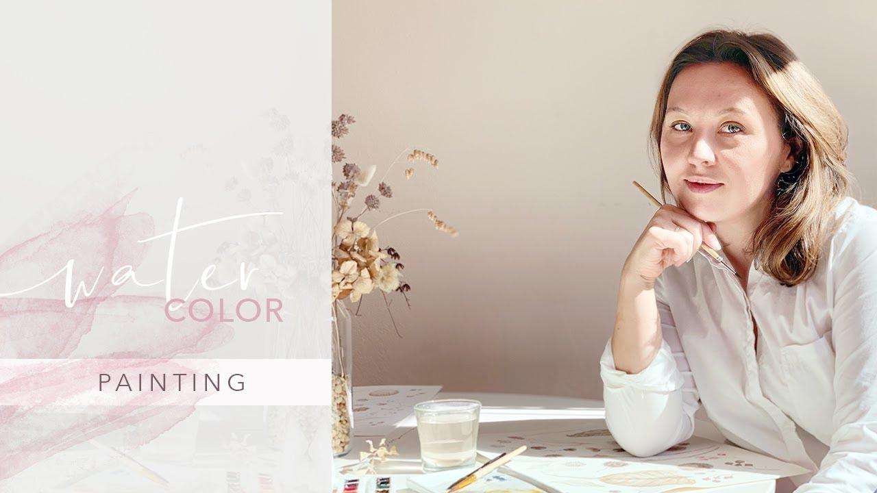 Watercolor Painting Stream of Dreams Design - Intro
