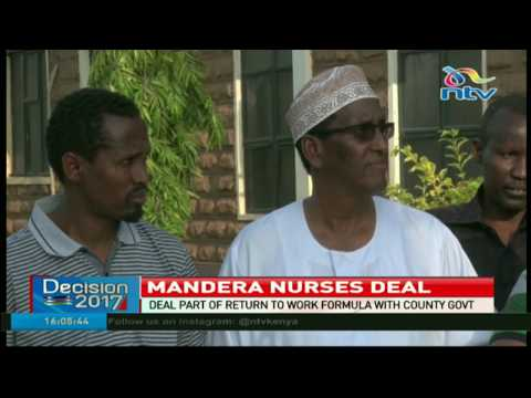 Mandera nurses agree to provide emergency services to patients
