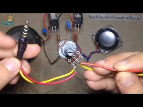 Add volume for Stereo audio Amplifier (use Potentiometer)