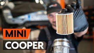 Oliefilter motor monteren doe het zelf instructievideo op MINI MINI