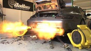 1000HP Turbo Porsche Dyno Slow Motion