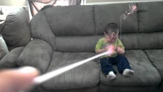 Boy Sprayed With Full Can Of Silly String LMFAO