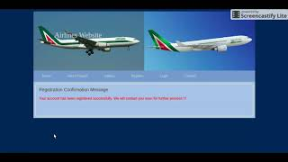 HTML, CSS and JavaScript Project on Airlines System Mp3