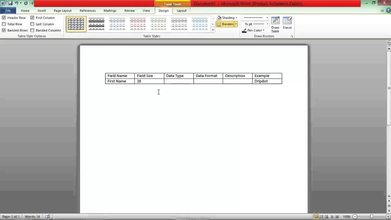 How to create data dictionary in excel — pic 2
