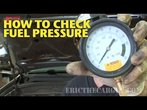 How To Check Fuel Pressure -EricTheCarGuy - YouTube