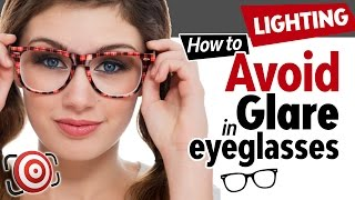 How to avoid glare in eyeglasses.  Photographing people with glasses and minimizing reflections