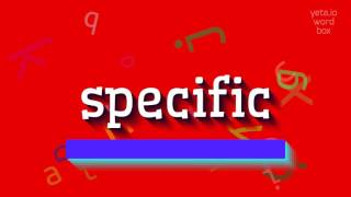 Download lagu How to sayspecific MP3