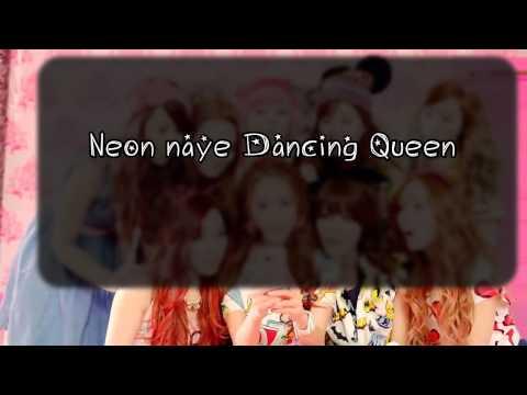 SNSD - Dancing Queen Lyrics On Screen HD