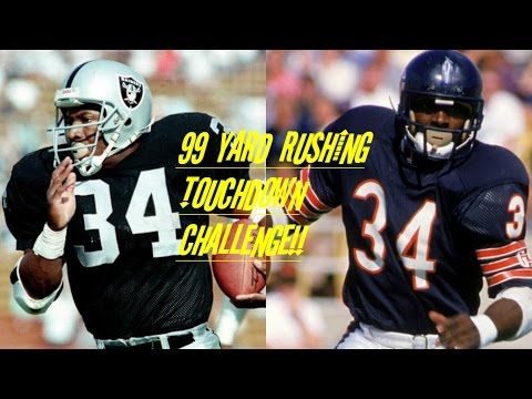 WHO CAN GET A 99YD TOUCHDOWN FIRST?!? BO JACKSON VS WALTER PAYTON!!