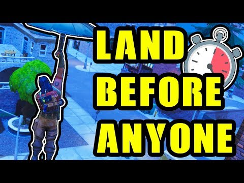 HOW TO LAND FASTER IN FORTNITE | BE THE FIRST TO TILTED TOWERS!