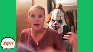 Try Not To SCREAM! (She FAILS)  | Funny Pranks and Fails | AFV 2020