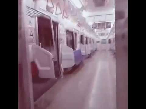 Inside a Japanese train