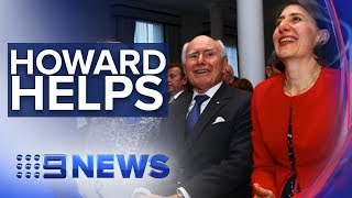 Former Prime Minister joins Gladys Berejiklian on the campaign trail | Nine News Australia