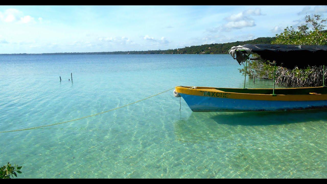 Lake Bacalar Mexico - Seven Shades of Blue - YouTube |Lake Bacalar Mexico