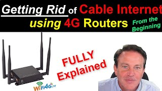 🔴 Replacing Cable Internet Service with a  4G LTE Router Complete Overview