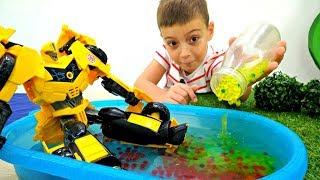 Трансформеры Прайм: Бамблби заржавел. Видео с игрушками