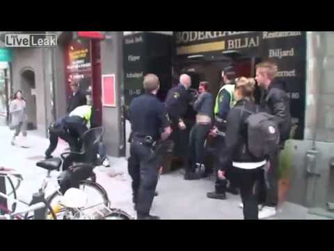 Swedish Viking Policeman sorts out some Trouble