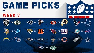 Week 7 Game Picks! | NFL 2019