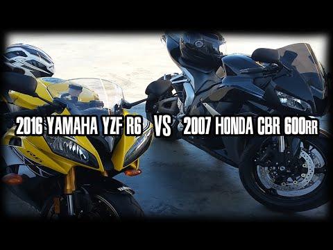 r6 vs gsxr 600 vs cbr 600 vs zx6r 2016