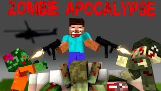 Monster School: ZOMBIE APOCALYPSE - Minecraft Animation