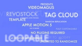 Apple Motion template - Tag Cloud Loop