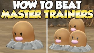 How To Beat Diglett & Dugtrio Master Trainers Guide! | Pokemon Let's Go