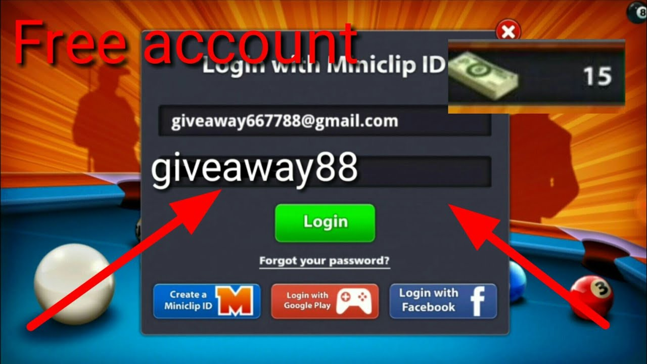Youtube Pool Show Or Email Free Cash With Password Account - 8 15 Ball