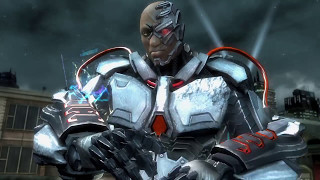Injustice: Gods Among Us Ultimate Edition Cyborg Regime VS Heroes Gameplay