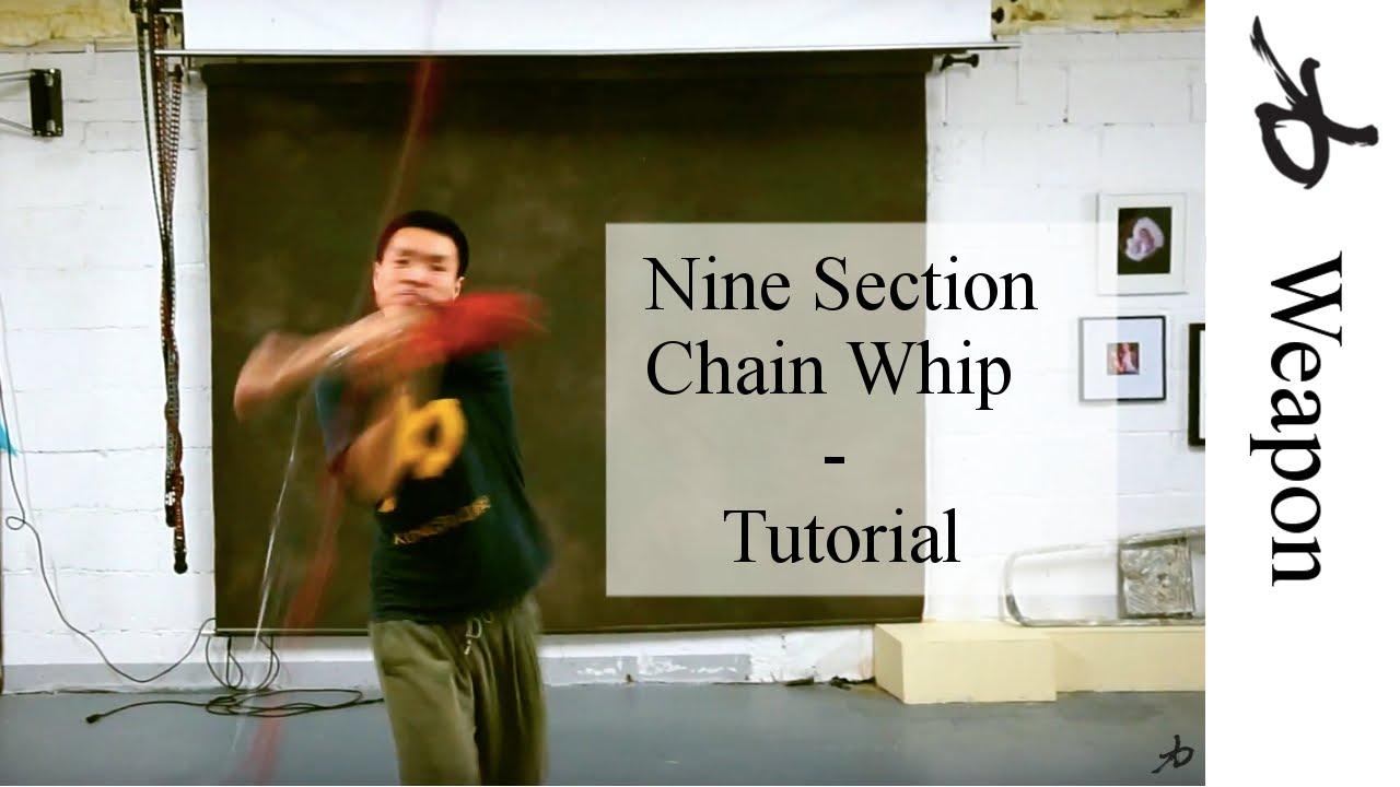 Nine Section Chain Whip- The Basics - Tutorial - YouTube