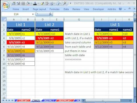 Excel Magic Trick 382 Match Two Lists Extract Column Data From