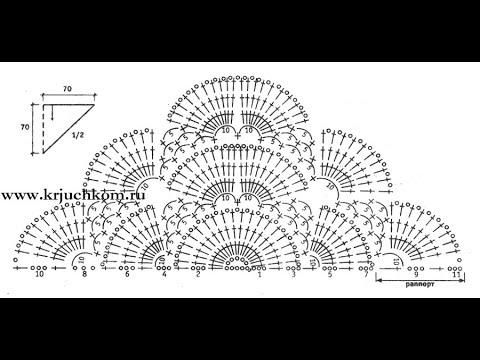 Схемы вязания крючком шали косынки схемы