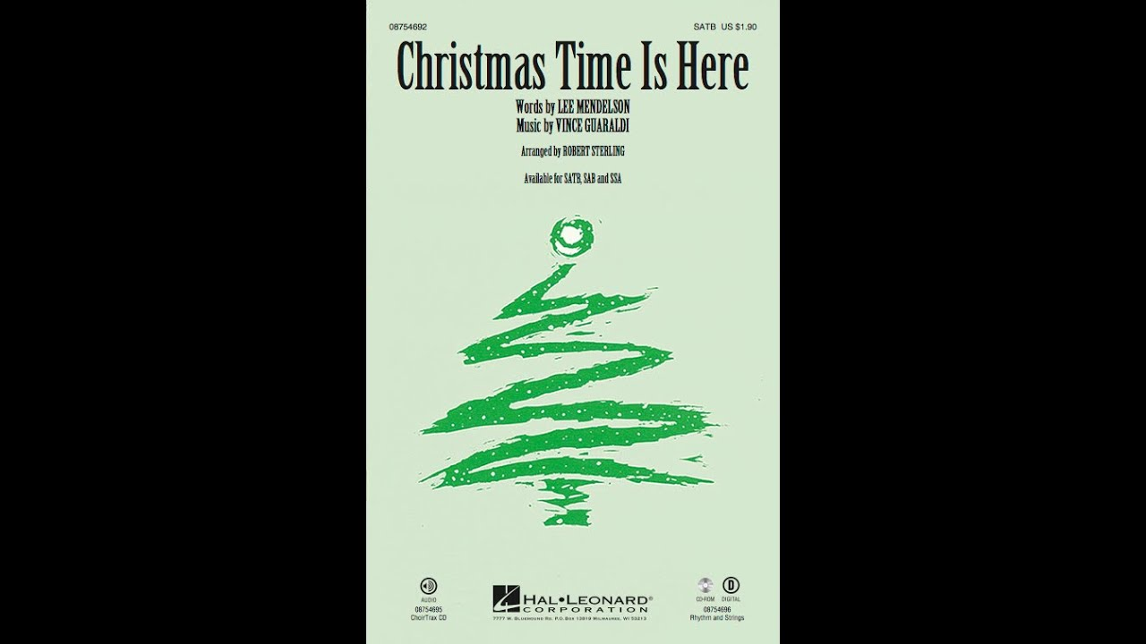 christmas time is here arr robert sterling youtube - Christmas Time Is Here Song