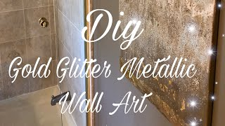 $300 GIVEAWAY DIY Metallic Gold Glitter Wall Art/ Home Decor