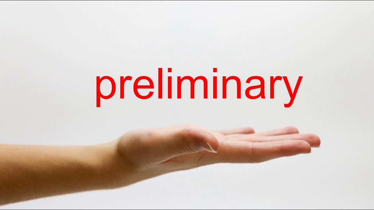 How to Pronounce preliminary - American English - YouTube