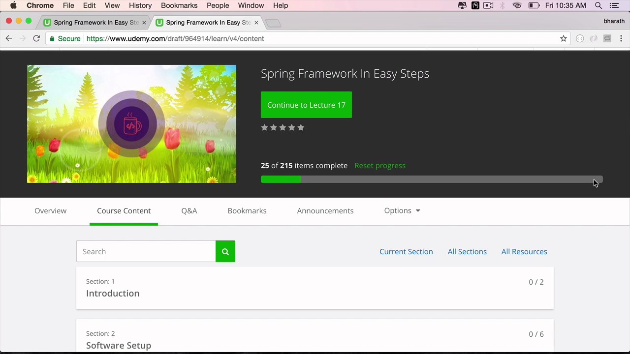 New Spring Framework in Easy Steps Course On UDemy