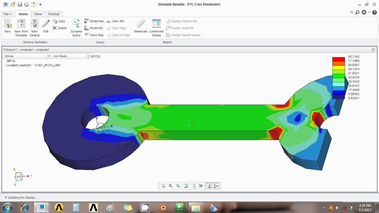 Creo 3 0 cast iron link analysis compare with theoretical creo 3 0 cast iron link analysis compare with theoretical calculation tutorial3 ccuart Gallery