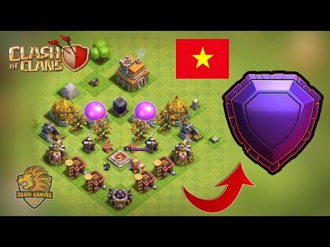 Game Thủ Việt Nam đầu Tiên TH7 Leo RANK HUYỀN THOẠI Clash Of Clans Với Base KHÔNG TƯỞNG Akari Gaming